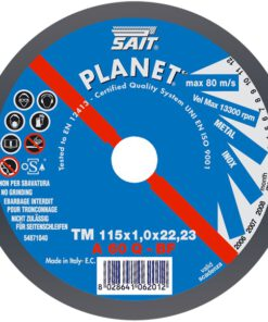 SAIT A60Q FLAT METAL CUTTING DISC 115mm x 1mm x 22mm