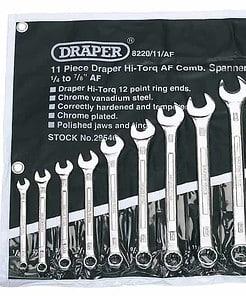 Draper 29546 8220/11/AF 11 Piece Imperial Combination Spanner Set