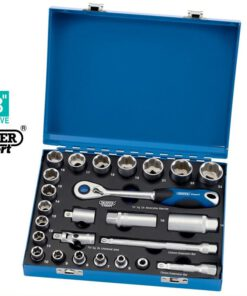 "Draper 43646 25 Piece 3/8"" Square Drive Metric Socket Set In Metal Case D25M/MC"