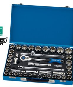 "Draper 43636 (H42am/mc) Draper Expert 41 Piece 1/2"" Sq. Dr. Mm/af Combined 12 Point Socket Set"