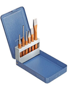 GEDORE CHISEL & PUNCH SET 6PC IN METAL CASE PE 106D