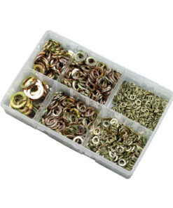METRIC SPRING WASHER ZINC & YELLOW M6-M16 ZZJ10532 800PC