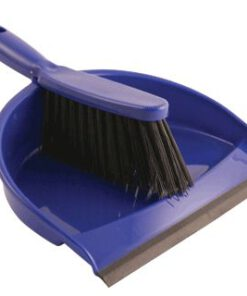 BLUE PLASTIC DUST PAN & BRUSH SET 59076
