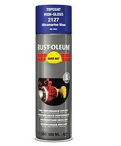 Rustoleum 2127 Hard Hat Topcoat Spray Paint Ultramarine Blue Aerosol Ral 9005 500ml