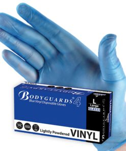 POLYCO PACK (100) GD12 BLUE POWDER VINYL DISP GLOVES