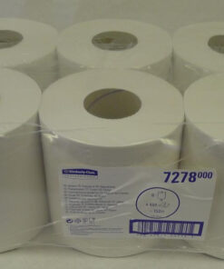 CASE (6) KC 7278 CENTRE FEED ROLL 2PLY WHITE 150M