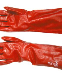 "RED PVC GAUNTLET 18"" 66154"